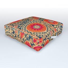 Kermina Suzani Uzbekistan Print Outdoor Floor Cushion
