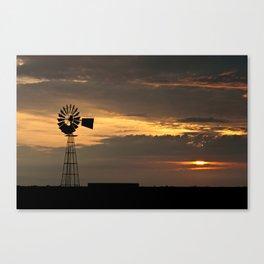 African Summer Sunset 1 Canvas Print