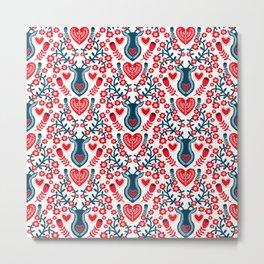 Scandinavian Christmas Pattern 05 Metal Print