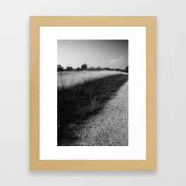 Along the side of the road Framed Art Print