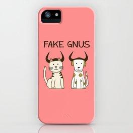 Fake Gnus: Cat & Dog Edition iPhone Case
