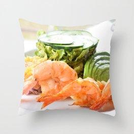 Shrimp! Throw Pillow