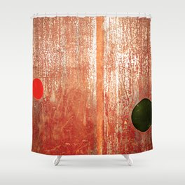 Metallic Face (Red Version) Shower Curtain