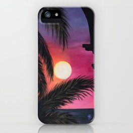 Los Arcos sunset iPhone Case