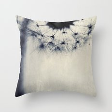 vintage blue dandy Throw Pillow