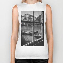 Through the Window (Black and White) Biker Tank