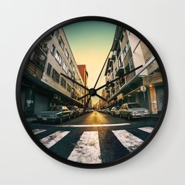 Chacao Sunset Wall Clock