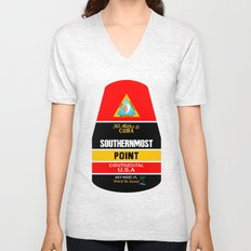 Southern Most Point, Key West, Florida/サザン・モスト・ポイント Unisex V-Neck
