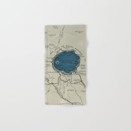 Vintage Crater Lake National Park Map (1919) Hand & Bath Towel
