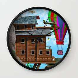 The Cliff Face House Wall Clock