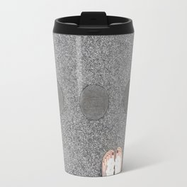 sidewalk cicrles, urban german workers art, essen Travel Mug