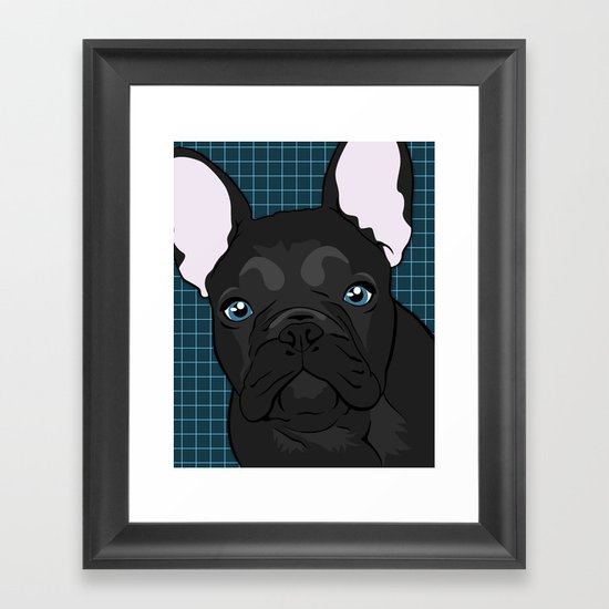 Black Frenchie Framed Art Print