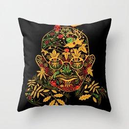 Gandhi Psychedelic Khokhloma Throw Pillow