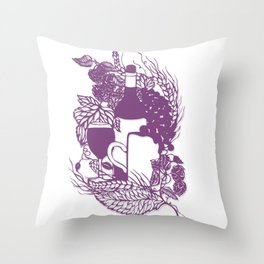 Hoops and grapes  Throw Pillow