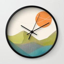 Minimalistic Landscape 17 Wall Clock