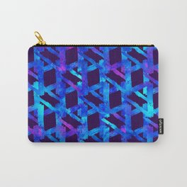 Cosmic blue watercolor bright print. Carry-All Pouch