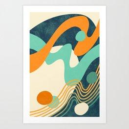 Waves 02 Art Print
