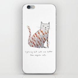 lightning bolt cats are better iPhone Skin