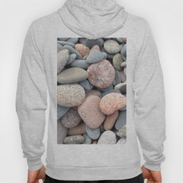 Watercolor Rock, Pebbles 05, Cape Breton, Nova Scotia, Canada, No Worries Here Hoody