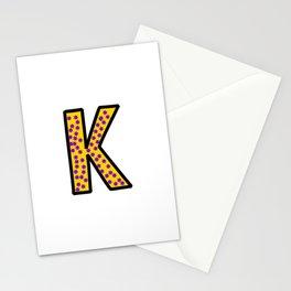 Uppercase Letter K Doodle Stationery Cards