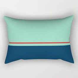 Blue Pink Line Pattern Home Decor Printable Minimal Art Rectangular Pillow