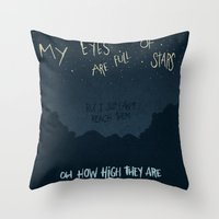 alabama Throw Pillows featuring ALABAMA SHAKES by Josh LaFayette