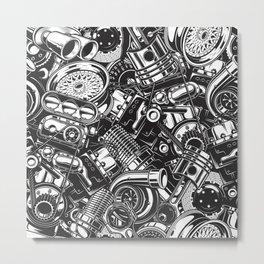 Automobile car parts pattern Metal Print