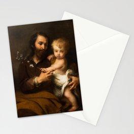 Bartolome Esteban Murillo - Saint Joseph and the Christ Child Stationery Cards