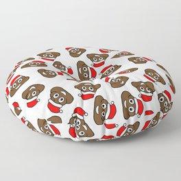 christmas poo emoji Floor Pillow