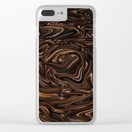 Chocolate Swirls Clear iPhone Case