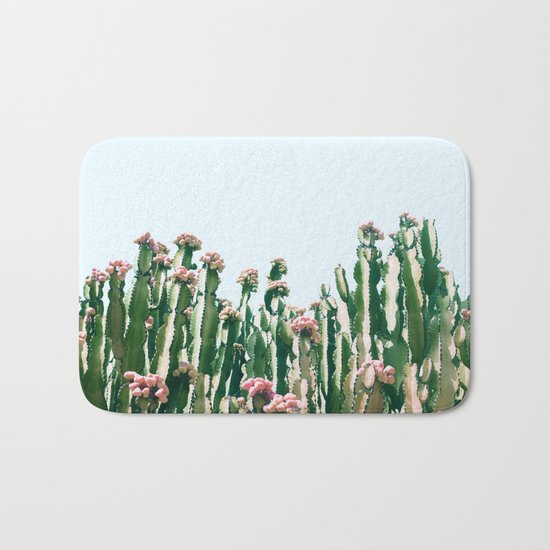 Blush Cactus #society6 #decor #buyart Bath Mat