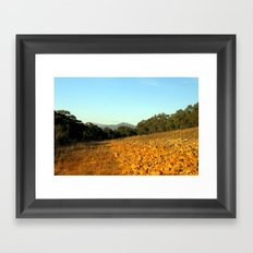 Glowing Rocks Framed Art Print