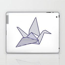 Swan, navy lines Laptop & iPad Skin
