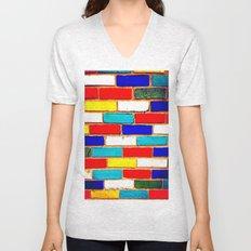 Vibrant Brick Unisex V-Neck