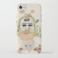 men iPhone & iPod Cases featuring three men by Édgar MT