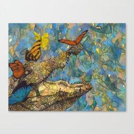 Even Crocodile Tears Need Butterfly Kisses Canvas Print