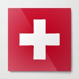 Switzerland flag emblem Metal Print
