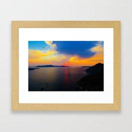 Fira,Sunset Framed Art Print