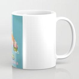 California Illustrated map poster. Coffee Mug