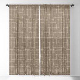 Cheesecloth - Chocolate-Yellow Sheer Curtain