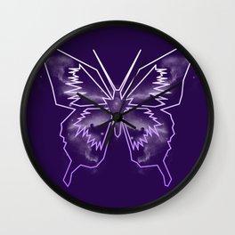 Galactica Purple Butterfly Wall Clock