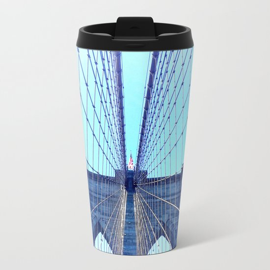BROOKLYN BRIDGE - LIGHTER Metal Travel Mug