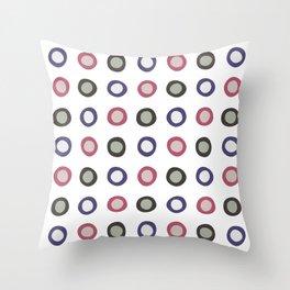 Blobby Dots Throw Pillow