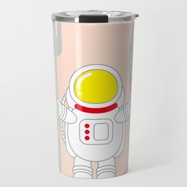 Space Odyssey | Astronaut Eats | Space Utensils | Galaxy Fork and Knife | pulps of wood Travel Mug
