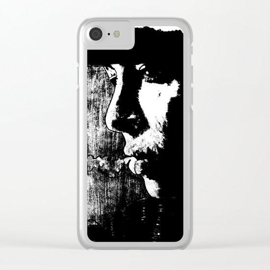 SMOKE - black version Clear iPhone Case