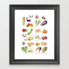 Calendar July-Dec Framed Art Print