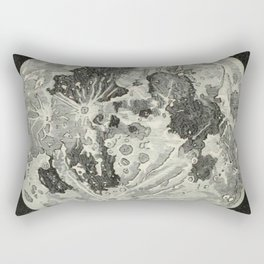 Vintage Moon Map Rectangular Pillow