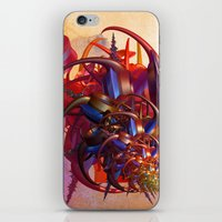 sci fi iPhone & iPod Skins featuring Sci-fi insect by Gaspar Avila