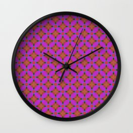 Pink Diamond Geometric Wall Clock