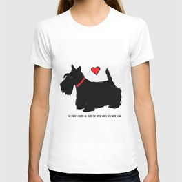 Scottish Terrier Dog-I'm Sorry (red heart) T-shirt